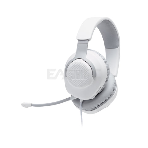 JBL Quantum 100 Wired Gaming Headset White with Detachable Mic