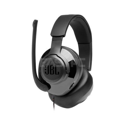 JBL Quantum 200 Wired Gaming Headset Black with flip-up mic