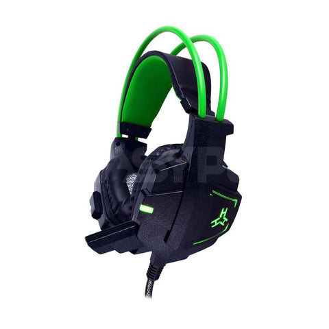 EasyPC Rakk Daguob Illuminated Gaming Headset Green