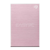Seagate Backup Plus Slim STHN2000405 2TB 2.5 External Hard Disk Drive Rose Gold SEEX458 1ION
