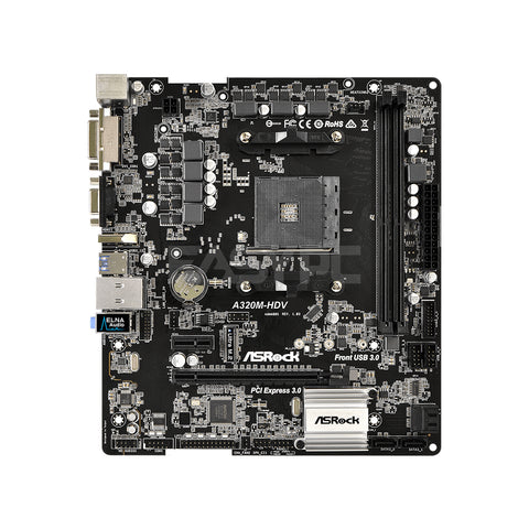Asrock A320M-HDV Socket Am4 Ddr4 Gaming Motherboard