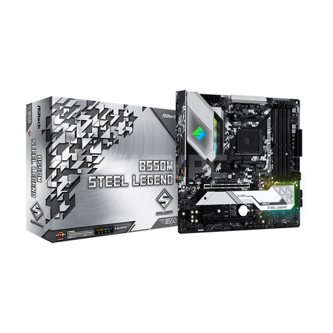 Asrock B550M Steel Legend Socket Am4 Ddr4 Motherboard