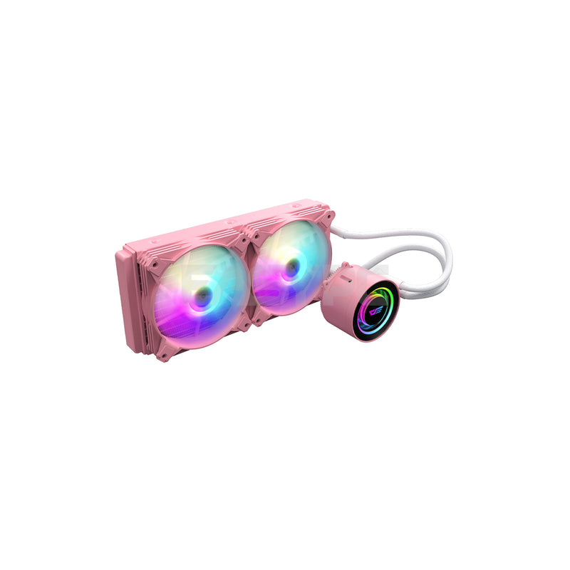DarkFlash DX 240 RGB AIO CPU Liquid Cooler Pink