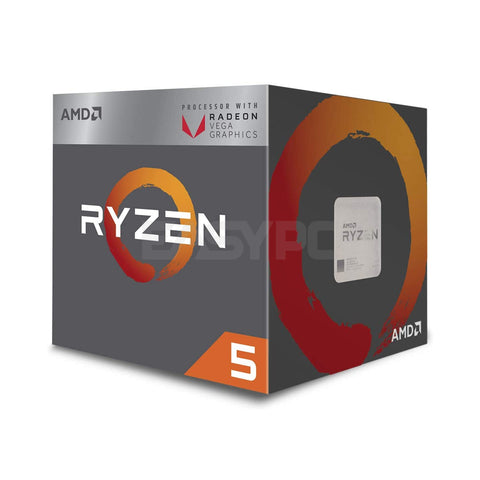 Amd Ryzen 5 2400g Processor Socket Am4 3.6ghz with Radeon RX Vega 11