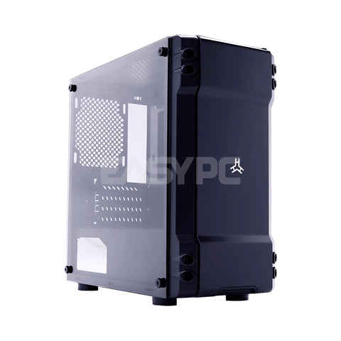 Rakk Kisig Tempered Glass Gaming Case Black