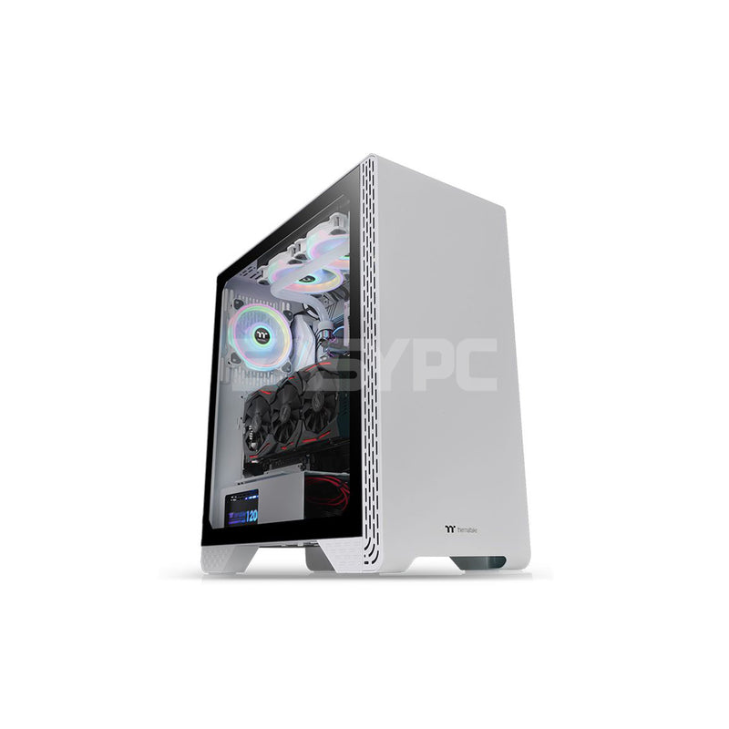 Thermaltake S300 Snow Edition CA-1P5-00M6WN-00 Mid Tower PC Case with Chassis Fan THCA1385 1ION