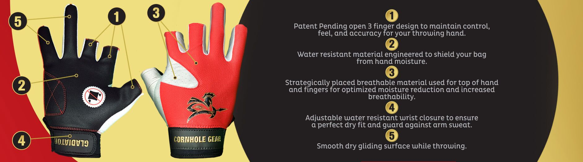 Top 5 advantages to our gloves