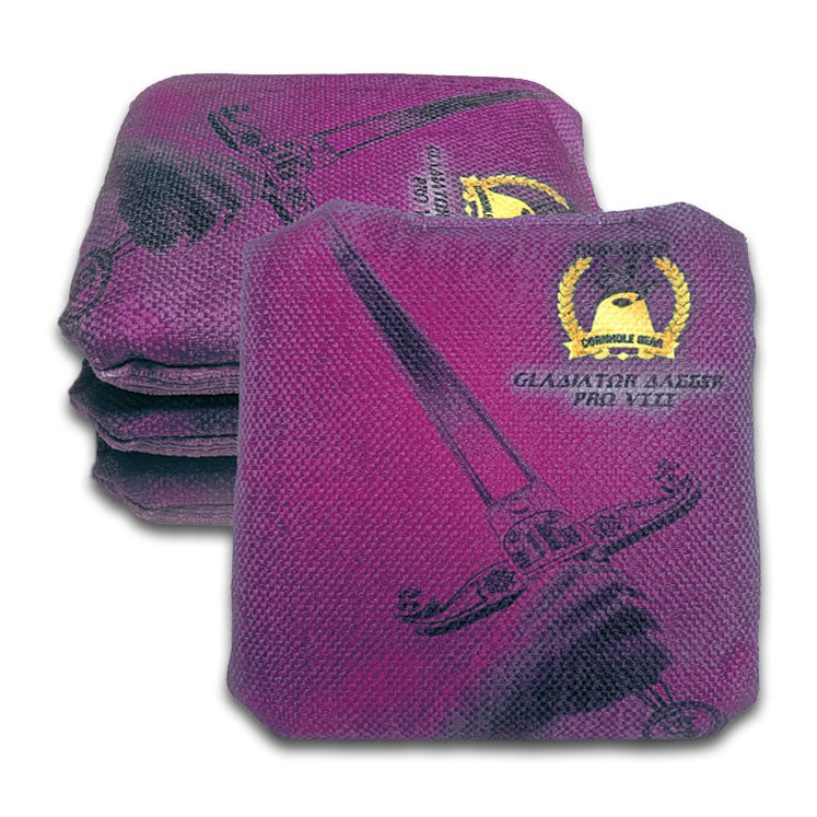 ACL Approved-Cornhole Bags-Gladiator-Dagger-Purple