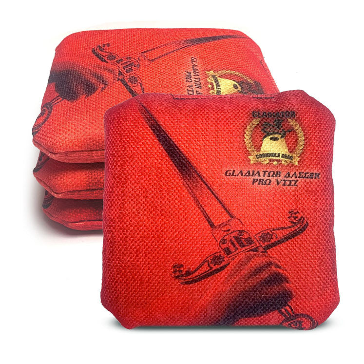 ACL Approved-Cornhole Bags-Gladiator-Dagger-Red