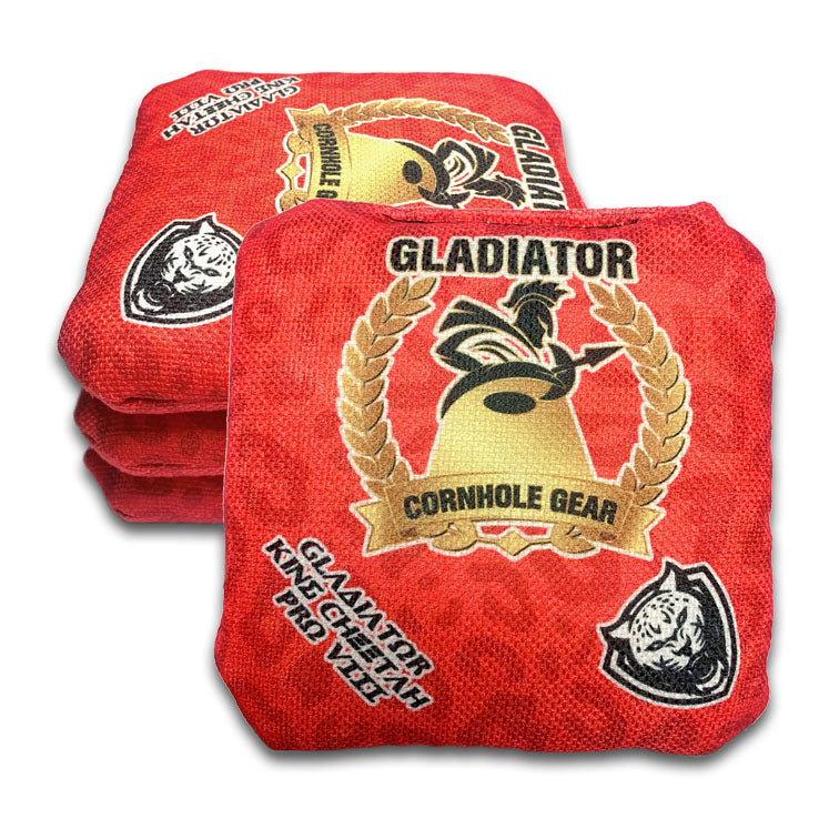ACL Approved-Cornhole Bags-King Cheetah-Red