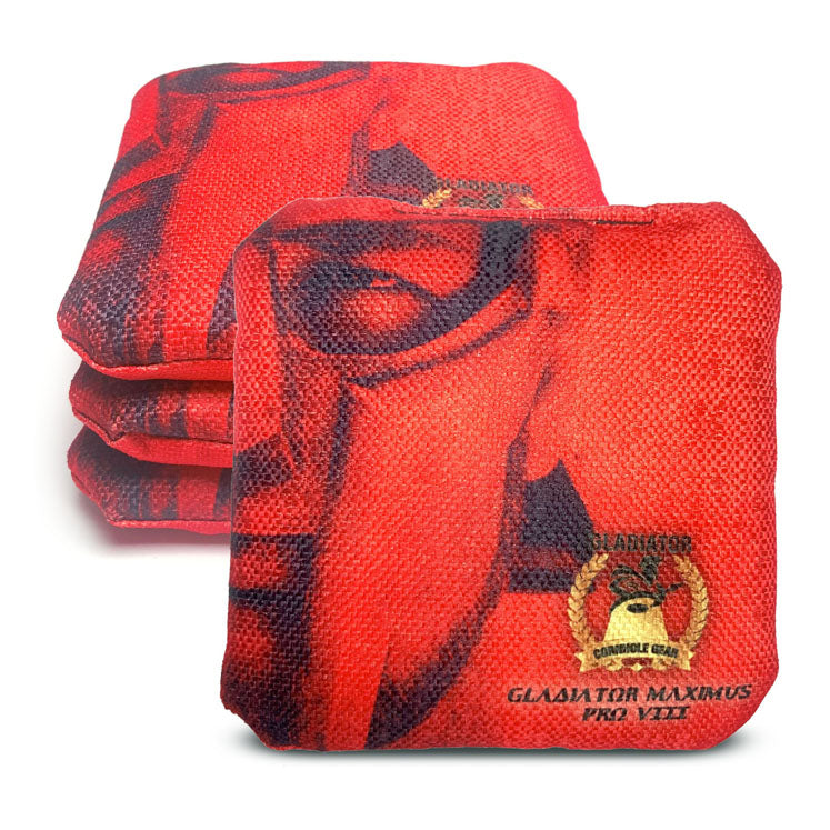 ACL Approved-Cornhole Bags-Gladiator-Maximus-Red