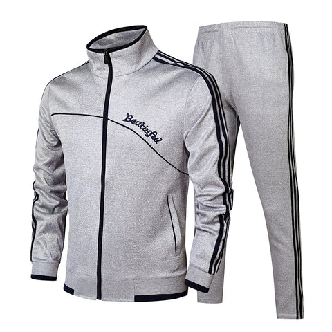Winter Men's Running Suit Long-Sleeved Sportswear