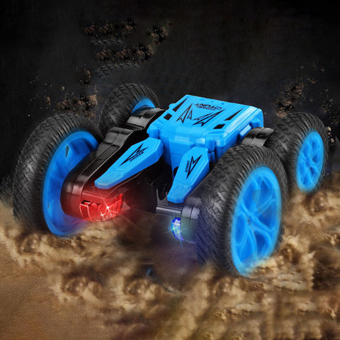 Remote Rotating Stunt Light Deformation Toy Car