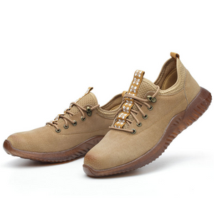 Velveteen leather soft anti-smash labor protection shoes