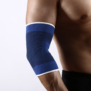 Fitness training non-slip knit elbow pads