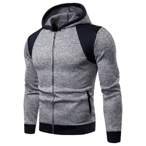 Creative Splicing Sleeve Casual Hooded Sweatshirt