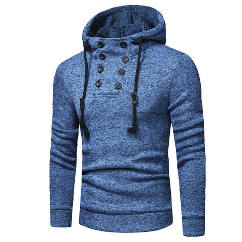 Hot Sale Fashion Casual Double-Breasted Plain Hoodie