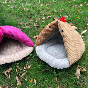 Lovely Plain Soft Thicken Keep Warm Pet Bed