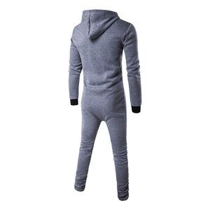 Casual Winter Plain Zipper Outdoor Sport Jumpsuit