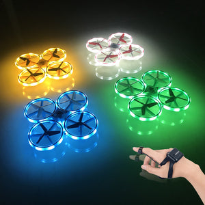 LED Light Interactive Induction Quadcopter Drone Toys