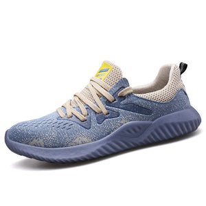 Mens Fashionable Flying Knit Upper Labor Protection Shoes