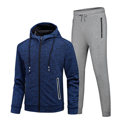 Men's Autumn Running Sports Clothing Two-Piece Set Suit