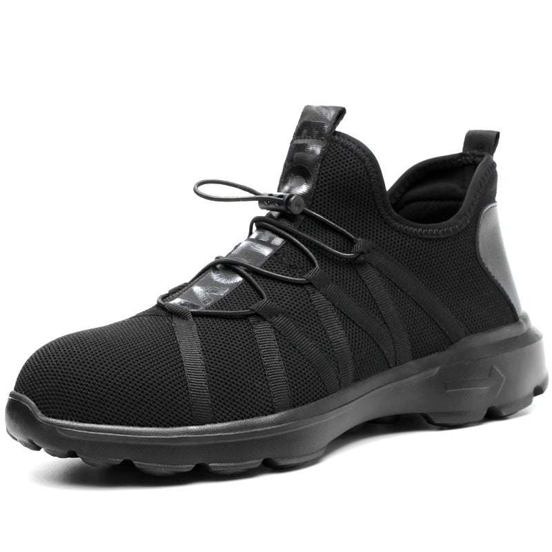 Mens fashion shatter-proof stable-proof work shoes