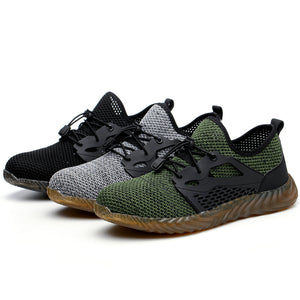 Fashion Men Breathable Anti-smash Labor Protection Shoes