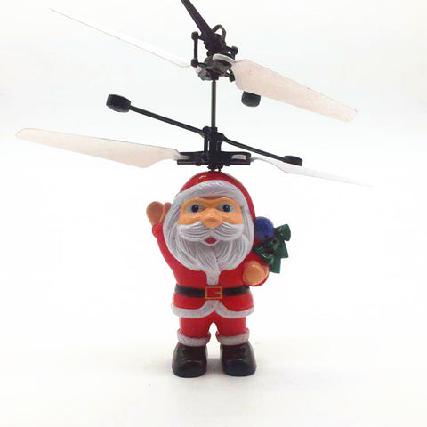 Santa Claus Aircraft Christmas Gift Man Hand Induction Aircraft