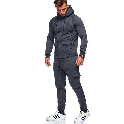 Loose Solid Color Sports Suit