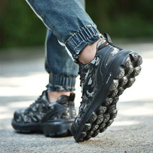 Mens fashionable flying weave work shoes