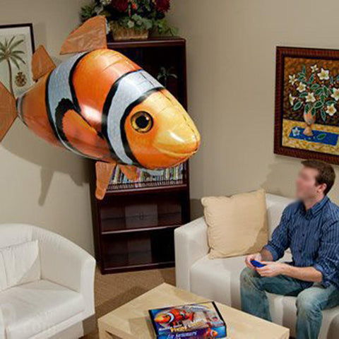Infrared RC Shark Toys Air Balloons Nemo Clown Fish