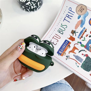 Creative Cute Cartoon Frog Airpods Silicone Case
