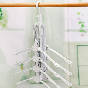 the magic hanger 8 folding plastic drying rack