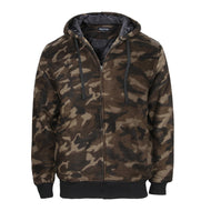 Casual Camouflage Printed Hooded Tooling Jacket