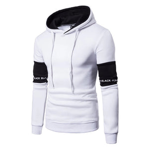 Men's Sports Fitness Casual Hooded Patchwork Sweater