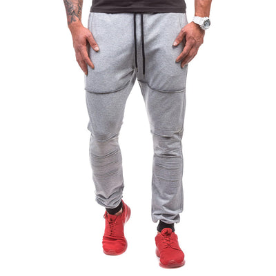 Shredded Double Pocket Design Men's Sports Pants