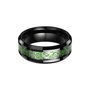 Bague Draconis Green Black