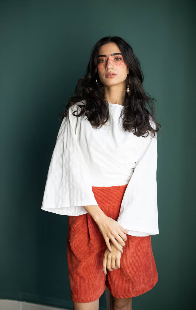 Sericum Wrap Blouse