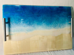 Double Ocean Wave Tray
