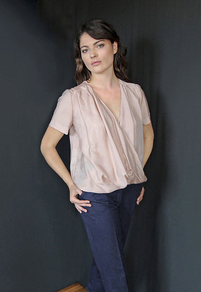 Top cache-coeur rose - ELIA