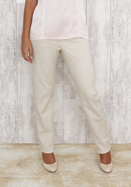 Pantalon droit beige - FRANCE