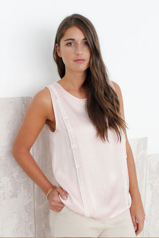 Top rose sans manches - FLORE
