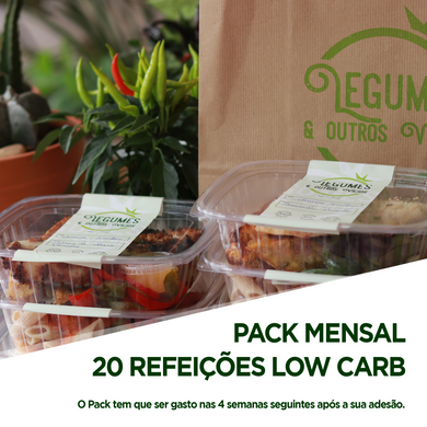 Pack Mensal 20 refeições Low Carb