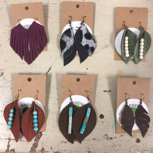 Auggie's Leather Earrings