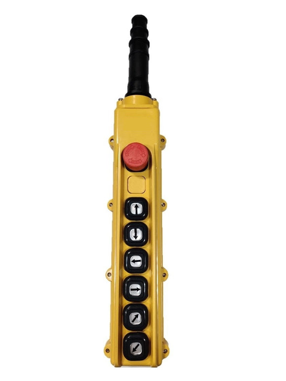 B-84-BR: 8 Button Pendant Station.  E-Stop Reset and 6 x 1 Speed Contact Elements