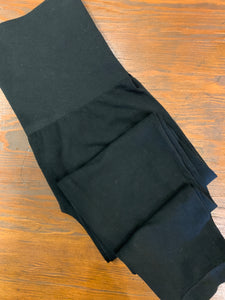 CROPPED BLACK LEGGING