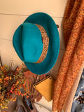 WOOL BRIM HAT IN BLACK, TEAL OR MUSTARD