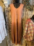 DIP DYE MAXI IN OLIVE AND GINGER