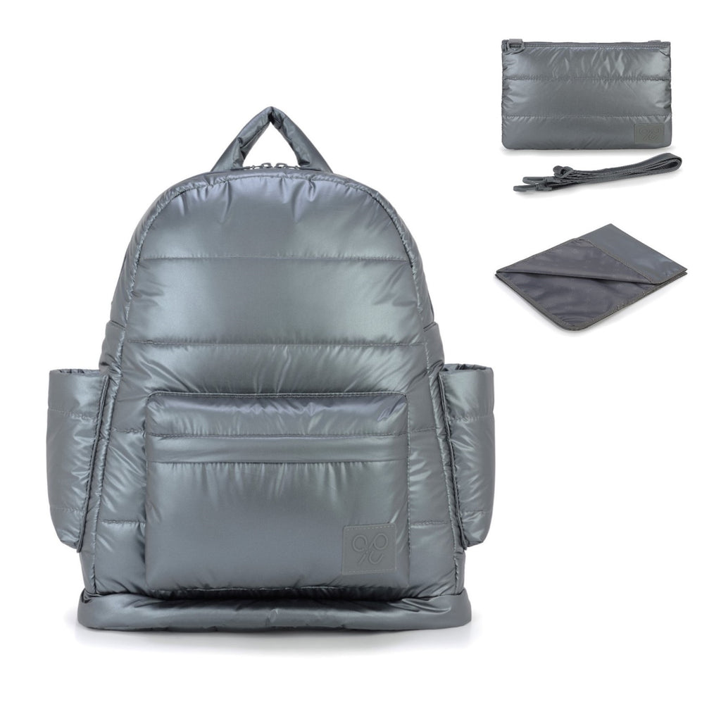 Airy Nappy Bag - L Backpack Bundle - Smokey Grey